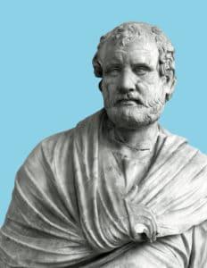 Statue von Aischines (Archäologisches Nationalmuseum Neapel. Foto Paolo Monti, 1969). Von Aischines sind drei Reden erhalten, die er u.a. gegen seine Gegner Demosthenes und Timarchos vorbrachte.