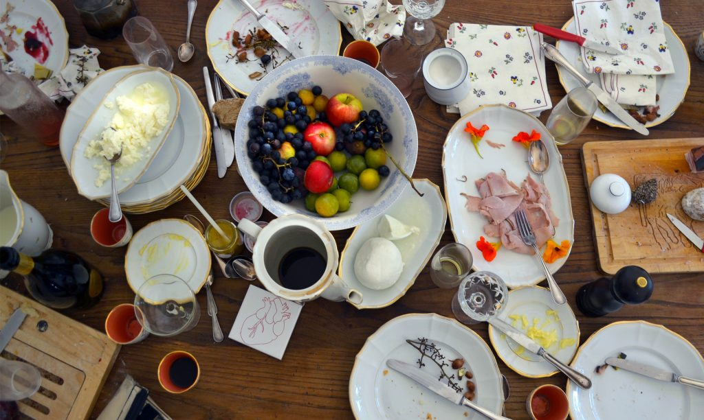 Reste des Gründungsfrühstücks