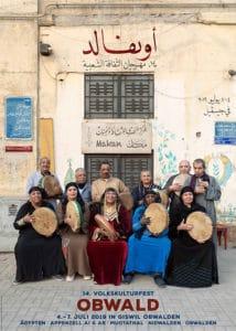 Mazaher ziert den Flyer des Volkskulturfest OBWALD