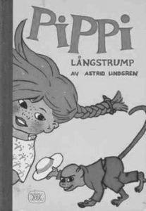 Lindgren, Astrid. 1945. Pippi Langstrump, Stockholm.