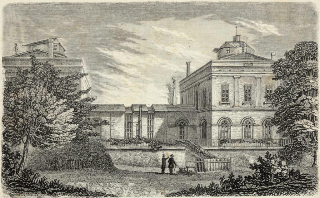 Die alte Königliche Sternwarte von Belgien, von Quetelet 1828 begründet. 1890 zog die Gesellschaft in einen Neubau.