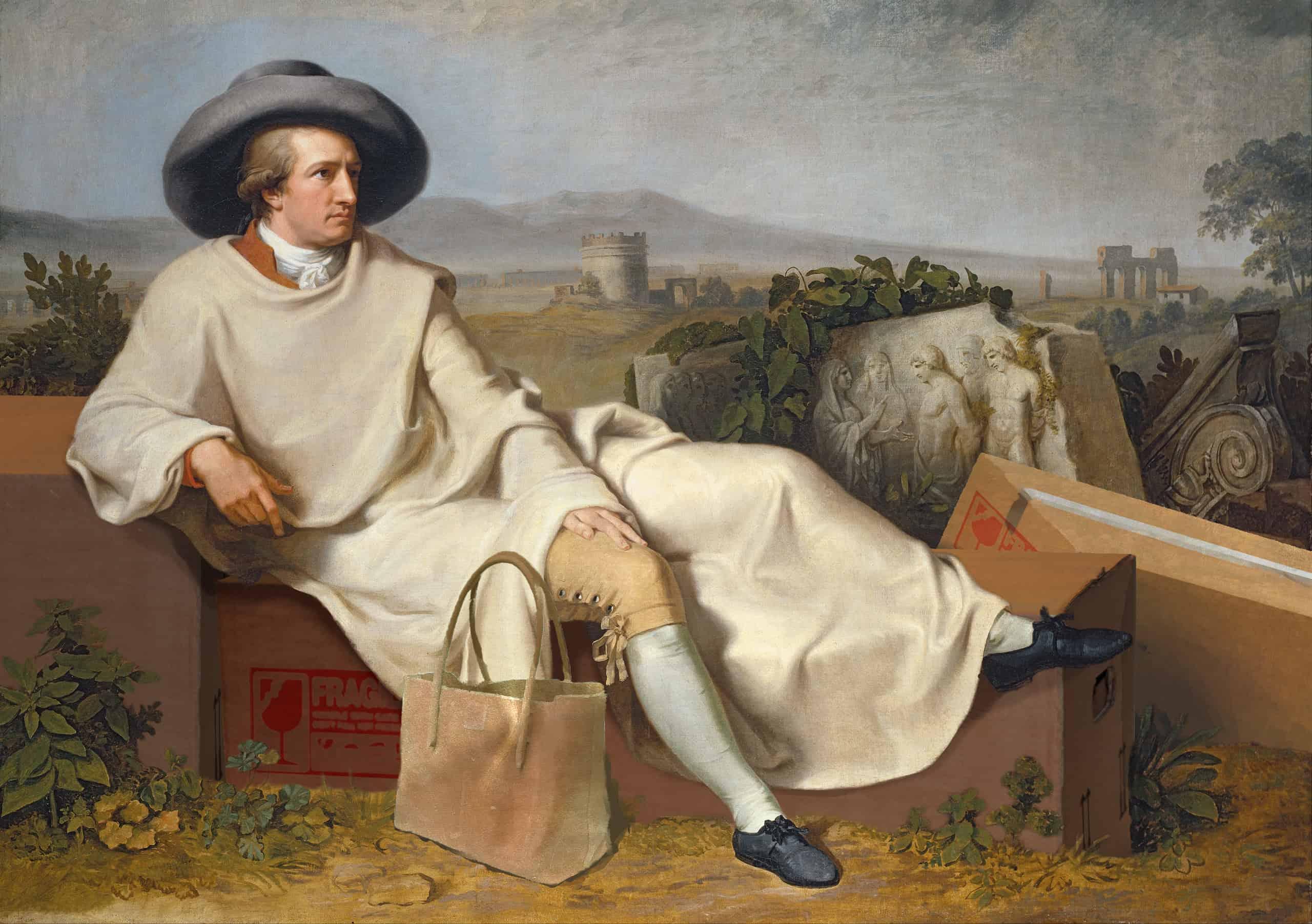 Goethe sammelt in der Campagna (J. H. W. Tischbein, Schule von, o. J.)