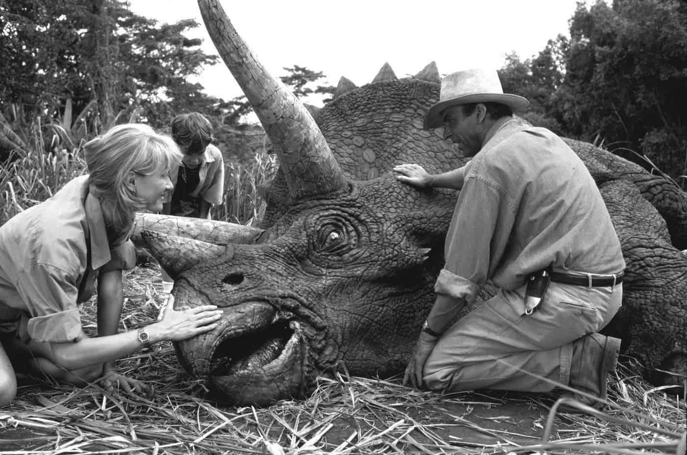 Retten, was vom Untergang bedroht ist. Standbild aus Jurassic Park (Spielberg 1992).