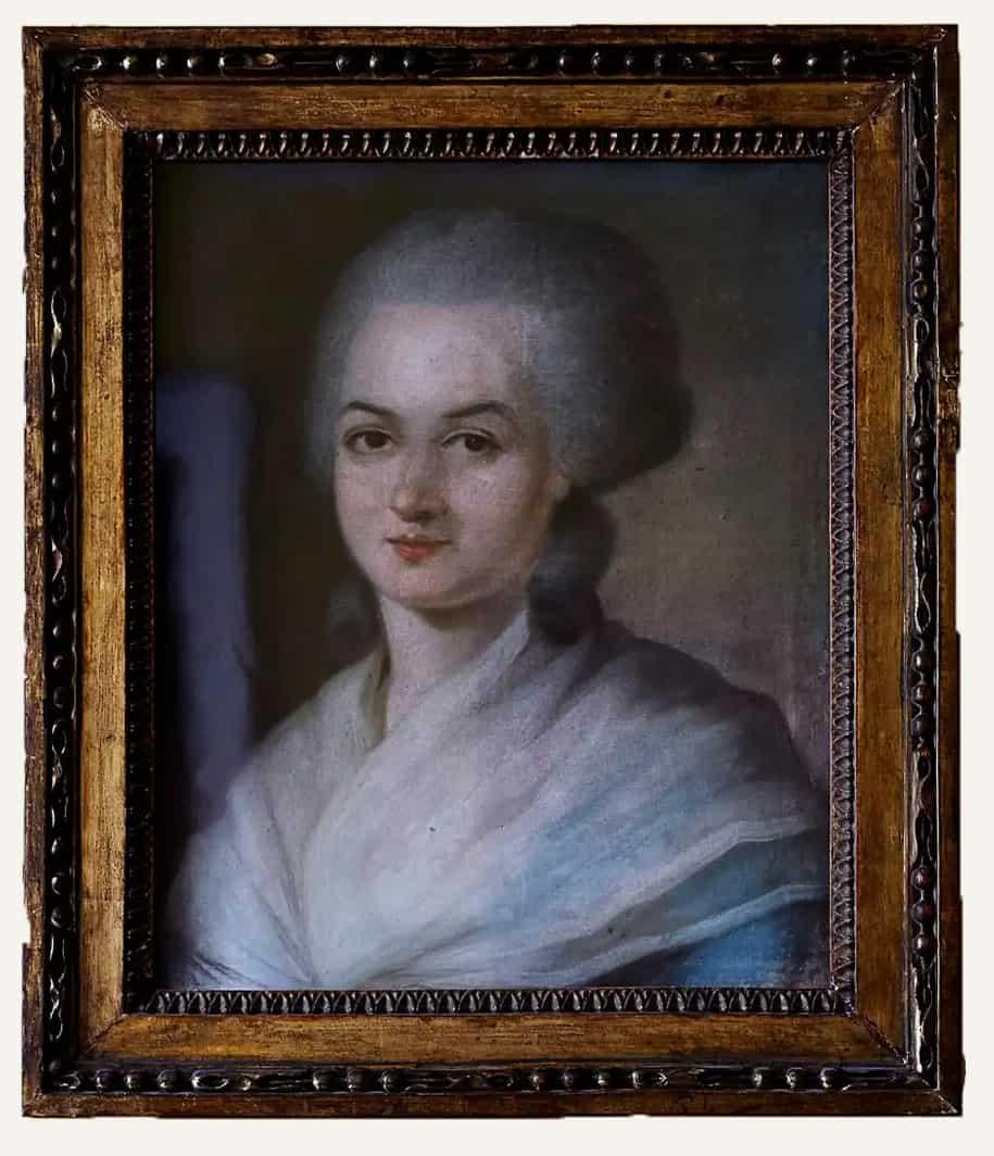 Olympe de Gouges, Verfasserin der <em>Erklärung der Rechte der Frau und Bürgerin </em> (1791) wurde 1793 hingerichtet (Bild: Pastell von Alexander Kucharski)